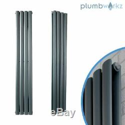 Anthracite Designer Radiator Vertical Column Panel Radiators Central Heating