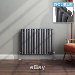 Anthracite Double Column Radiator Horizontal Central Heating Panel 600 x 780 New