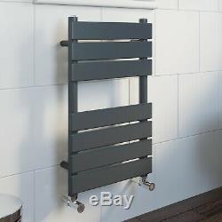 Anthracite Flat Panel Bathroom Designer Radiator Towel Rail Central Heating UK
