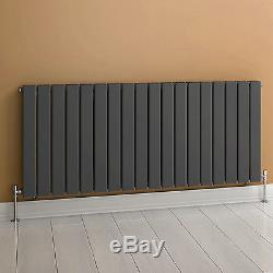 Anthracite Flat Panel Horizontal Radiator Bathroom Central Heated Rad 600x1210mm