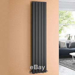 Anthracite Flat Panel Vertical Radiator Bathroom Central Heated Rad 1800 x 376mm