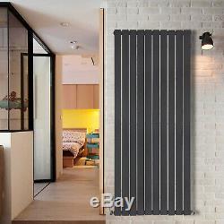 Anthracite Horizontal Vertical Bathroom Flat Panel Designer Radiator With Valves