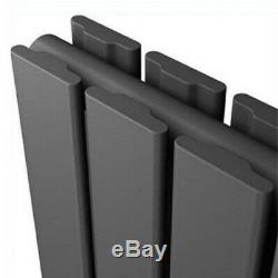 Anthracite Horizontal Vertical Bathroom Flat Panel Designer Radiator With Valves