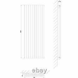 Anthracite Oval Column Vertical Designer Radiator 1600 x 590mm Double Panel