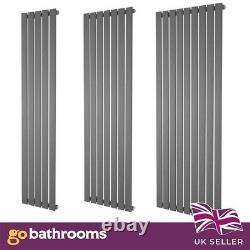 Anthracite Tall Vertical Radiator Flat Panel Designer Radiator Kitchen Bathroom