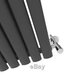 Anthracite Vertical Designer Radiator Oval Column Single&Double Central Heating