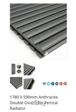 Anthracite Vertical Double Panel Central Heating Designer Radiator 1780 x 590mm