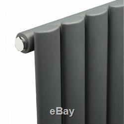 Anthracite Vertical Oval Column Designer Radiator Rail Rad 1780 x 472mm