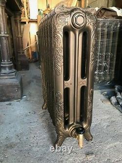 Antique, fully refurbished, cast iron French ornate radiator