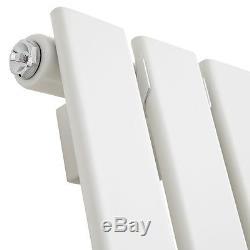 Atlanta White 1800x452 Vertical Flat Panel Designer Radiator Central Heating