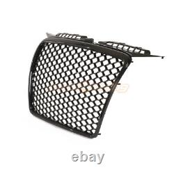 Audi A3 8p 8pa 2005-2008 Rs Style Grille Gloss Black Honeycomb Radiator Bumper