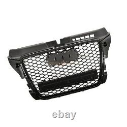 Audi A3 S3 8p 2008-2012 Rs Style Grille Gloss Black Honeycomb Radiator Bumper