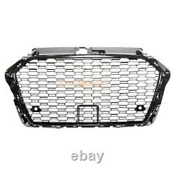 Audi A3 S3 8v 2016-2019 Rs Style Grille Gloss Black Honeycomb Radiator Bumper
