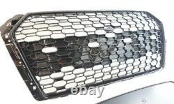 Audi A4 S4 B9 2015-2019 Rs Style Grille Gloss Black Honeycomb Radiator Bumper