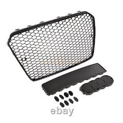 Audi A5 S5 8t 2012-2016 Rs Style Gloss Black Honeycomb Radiator Bumper Grille