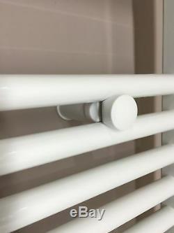 Badheizkörper Handtuchwärmer 1800x600mm Mittelanschluss weiß gebogen Heizkörper