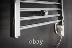 Bathroom Chrome Electric Ladder Heated Towel Rail Warmer Thermostatic Radiator