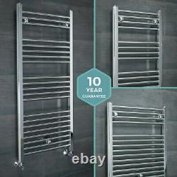 Bathroom Heated Towel Rail Radiator Chrome Straight Ladder Warmer All Sizes