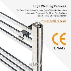 Bathroom Heated Towel Rail Radiator Straight Ladder Warmer Heating Chrome Rad