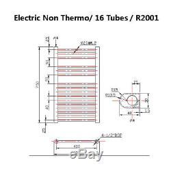 Bathroom Heated Towel Rail Radiator Warmer Central Heating Chrome Multi-Function