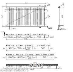 Bathroom Towel Rail Rad Central Heating Radiator 1000mm High Chrome Heated Rack