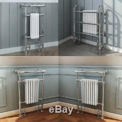 Bathroom Traditional Victorian Heated Towel Rail Column Radiator White Chrome