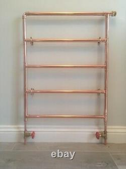 Beautiful Handmade to order Industrial Style Copper Heated Towel Radiator