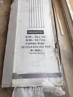 Black Flat Panel Vertical Designer Double Radiator 1800 x 458mm Central Heating