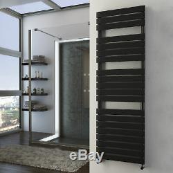 Black Heated Towel Rails Designer Bathroom Radiator Matte 15 Year Guarantee