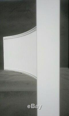 Bowed bay curved domestic central heating radiator