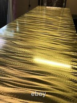 Brass Linished Vertical Designer Radiator Ripple 505/1805 3350btu