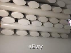 Bundle of 4 Vertical Designer Radiators Double Oval Column Central Heating White