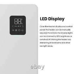 Caldo WiFi Electric Panel Heater, Wall Mounted or Portable Radiator with Timer