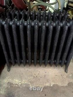 Cast Iron Ornate three Sectioned Radiator