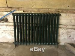 Cast Iron Radiator, Victorian Central Heating, Vintage Vertical Column LARGE