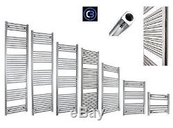 Central Heating 650mm Wide Bathroom Heated Towel Rail Radiator Chrome Straight