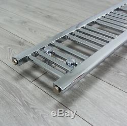Central Heating Towel Rail Rad 300mm Wide Bathroom Radiator Heated Chrome Warmer
