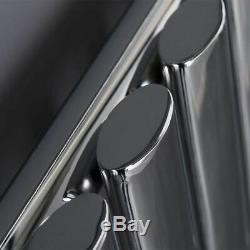 Chrome 600x600 Horizontal Oval Designer Radiator Central Heating Calsa