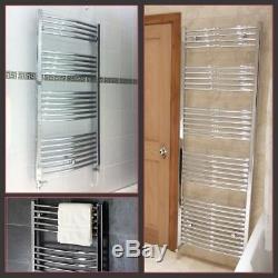 Chrome Curved Heated Bathroom Central Heating Towel Rail Rad Radiator Warmer