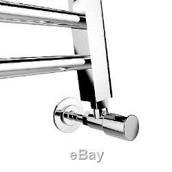 Chrome Heated Bathroom Central Heating Towel Rail Radiator Curved Flat Straight