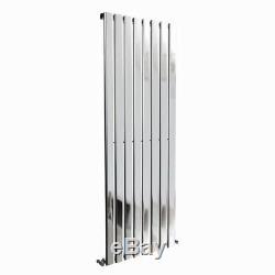 Chrome Vertical Modern Designer Flat Panel Central Heating Radiator 1800x544mm