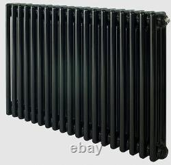 Classic Column Radiators Cast Iron Style 3 Column Black and Grey Made By Zehnder