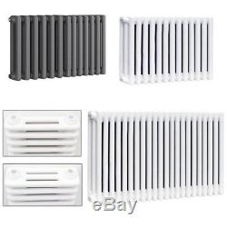 Classic Horizontal Cast Iron Column Radiators White Anthracite Central Heating