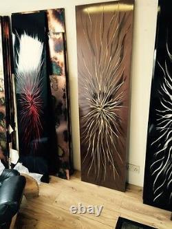 Copper Over Cream Centrum designer Vertical radiator 400-1400