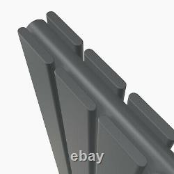 Designer Anthracite Radiator Horizontal&Vertical Flat Panel Oval Column Rads UK