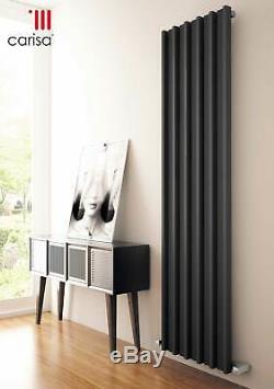 Designer Anthracite Steel Vertical Column Wall Radiator Central Heating Carisa