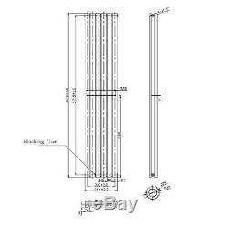 Designer Anthracite Vertical Radiator 1080 x 550mm Central Heating Radiators UK