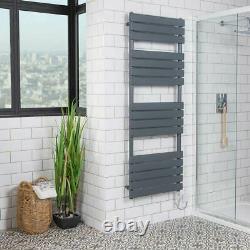 Designer Bathroom Flat Panel Sand Grey Electric Heated Towel Rail Radiator Rad