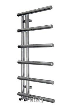 Designer Bathroom Heated Towel Rail Radiator Ladder 988 x 500 mm Chrome