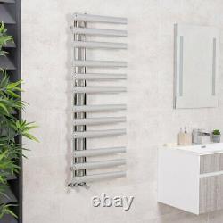 Designer Bathroom Heated Warming Towel Rail Radiator Ladder 1200 x 450 mm Chrome